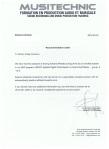 MusiTechnic - Refference Letter